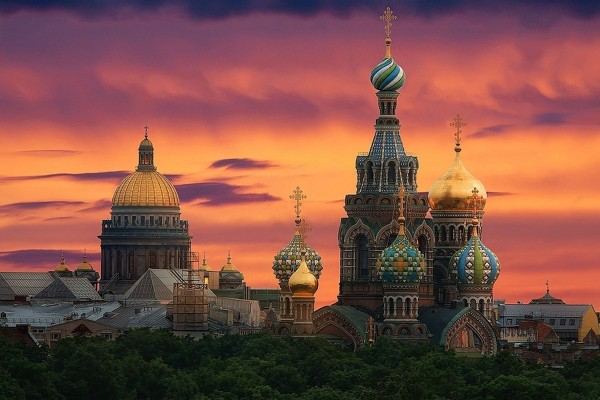 Sunset at St. Petersburg Cathedral